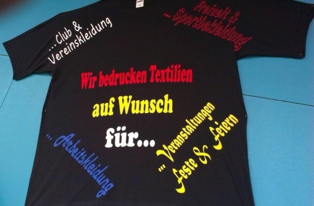 T-Shirt Beschriftung Borken, RTH-Mode, Textilveredelung Borken